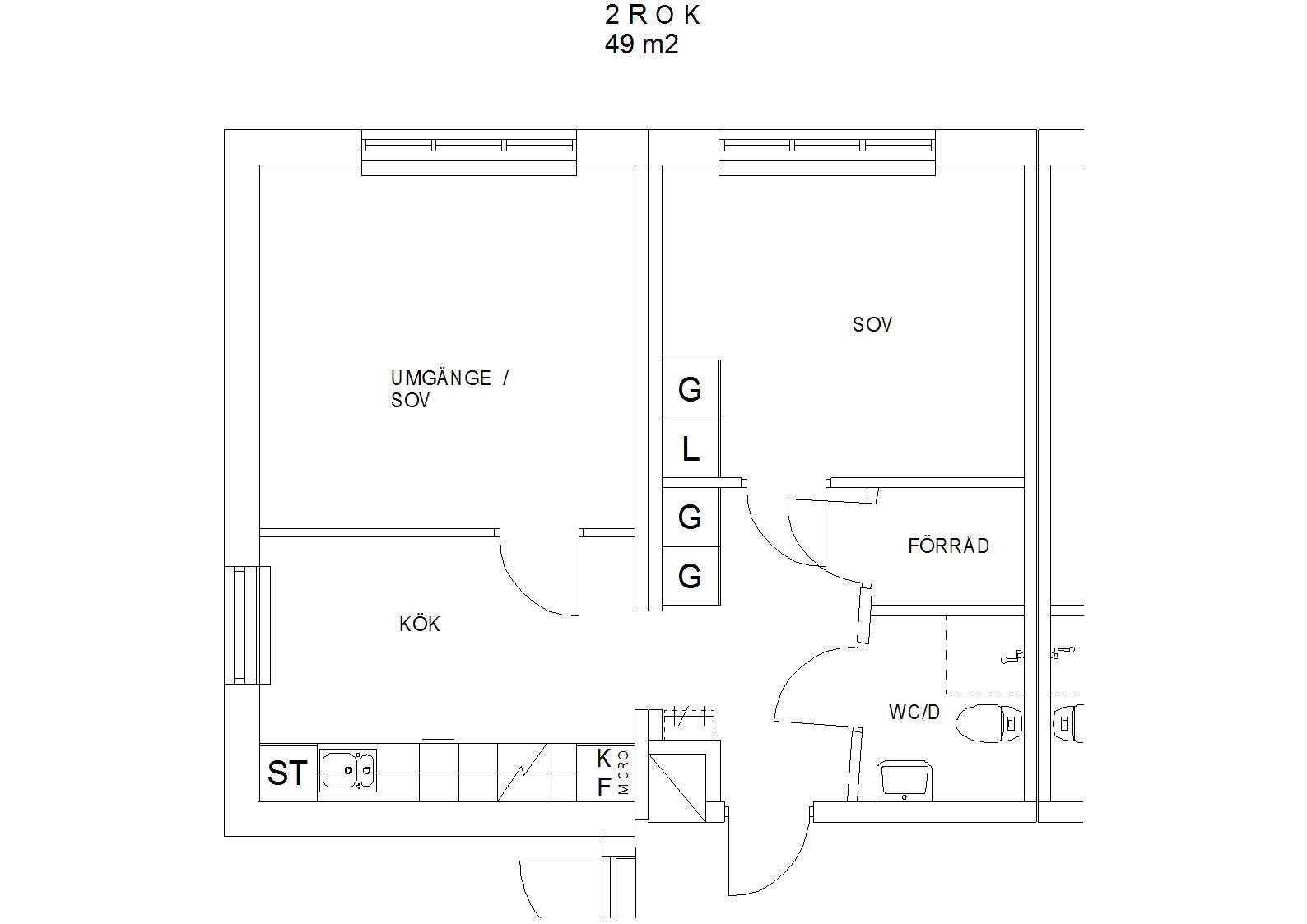Litet Koksbord Med Klaff :  med sovrum, allrum , litet kok, duschwc och litet forrod i